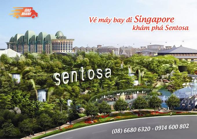 Vé máy bay đi Singapore khám phá Sentosa