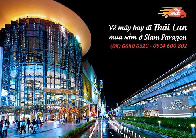 Vé máy bay đi Thái Lan mua sắm ờ Siam Paragon, Bangkok