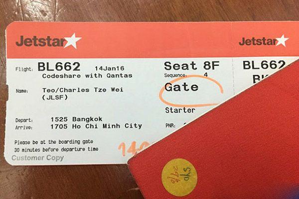 Kiểm tra vé máy bay Jetstar