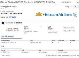 Mã đặt chỗ Vietnam Airlines là gì?